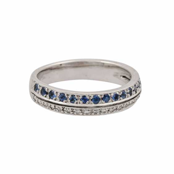 Ring with sapphires and diamonds - photo 2