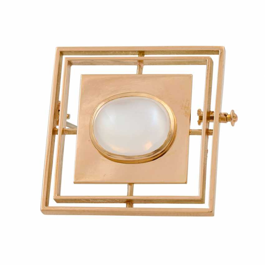 Pendant / brooch with fine moonstone, - photo 1