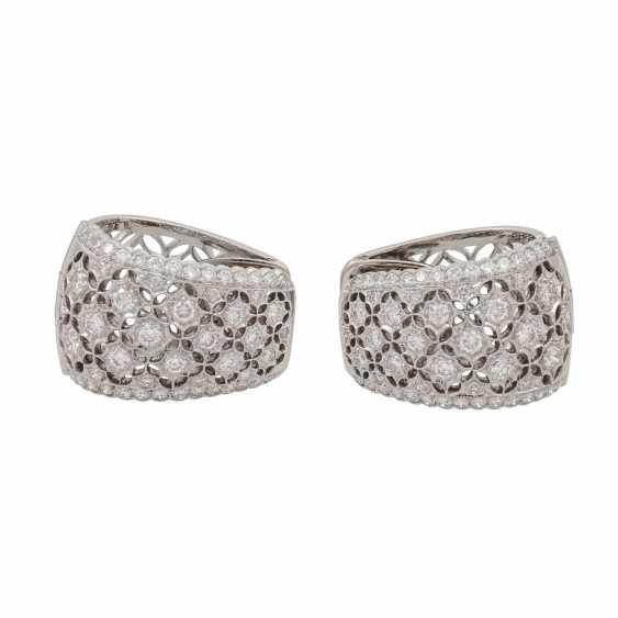 Hoop earrings with diamonds of 1.26 ct each (hallmarked), - photo 3