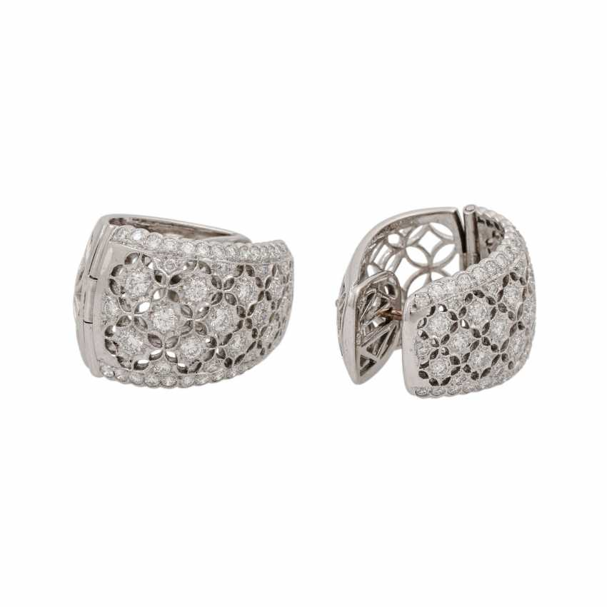 Hoop earrings with diamonds of 1.26 ct each (hallmarked), - photo 4