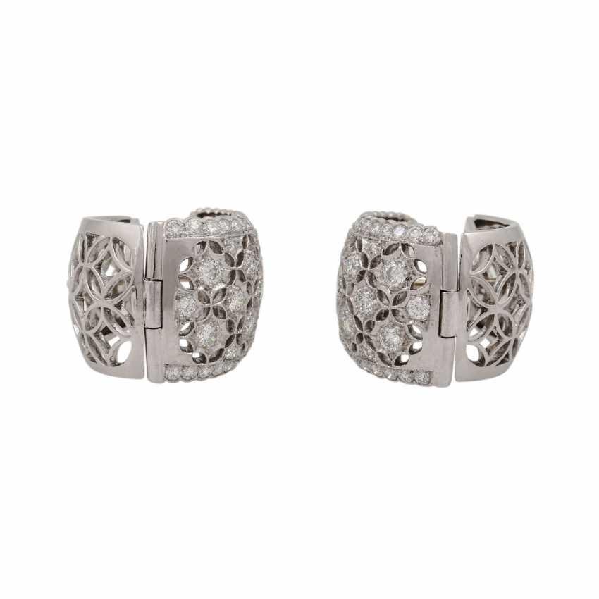 Hoop earrings with diamonds of 1.26 ct each (hallmarked), - photo 6
