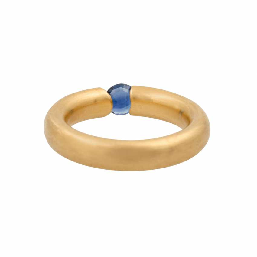 BUNZ ring with sapphire and diamond of 0.06 ct, - photo 4