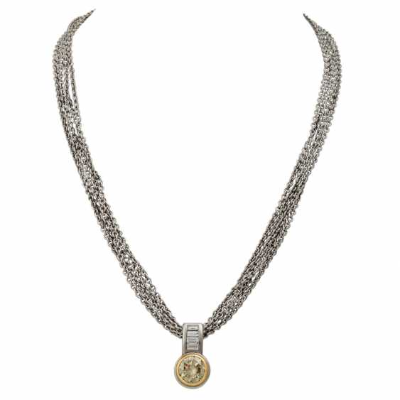 Chain and pendant with diamond approx. 3 ct, - photo 1