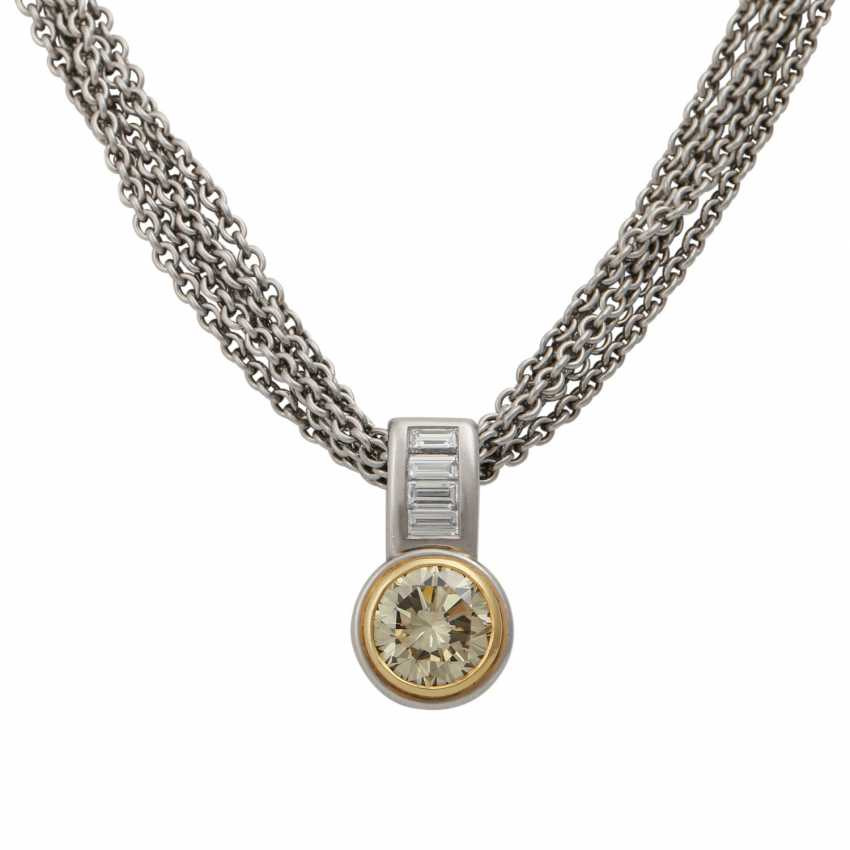 Chain and pendant with diamond approx. 3 ct, - photo 2