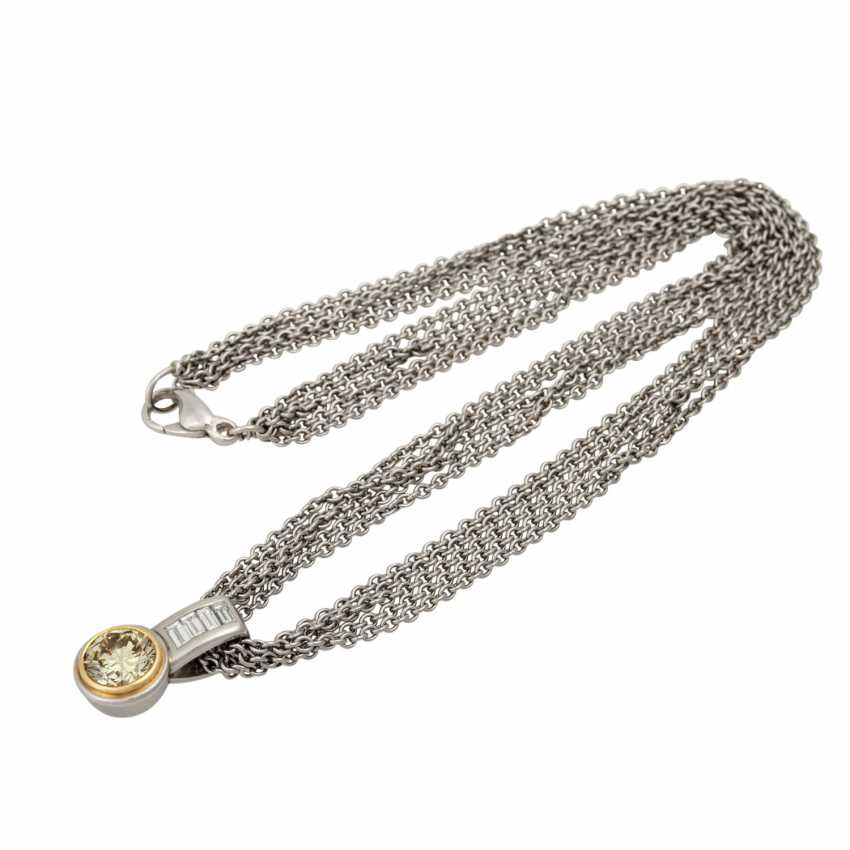 Chain and pendant with diamond approx. 3 ct, - photo 3