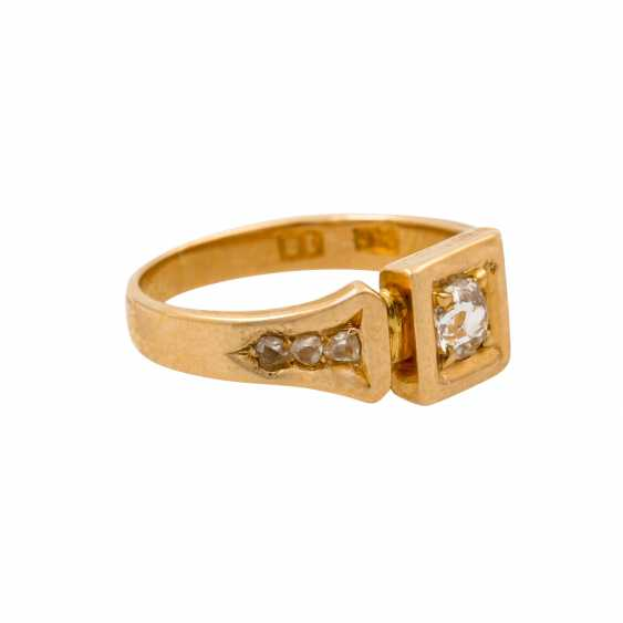 Ring with old European cut diamond of approx. 0.15 ct, - photo 1