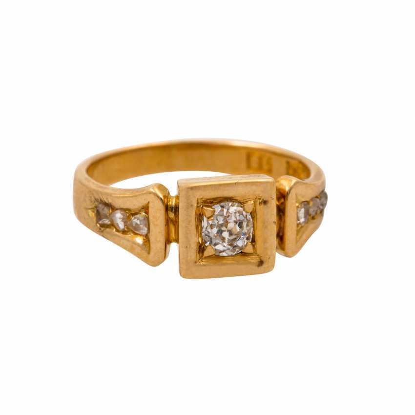Ring with old European cut diamond of approx. 0.15 ct, - photo 2