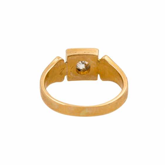 Ring with old European cut diamond of approx. 0.15 ct, - photo 4