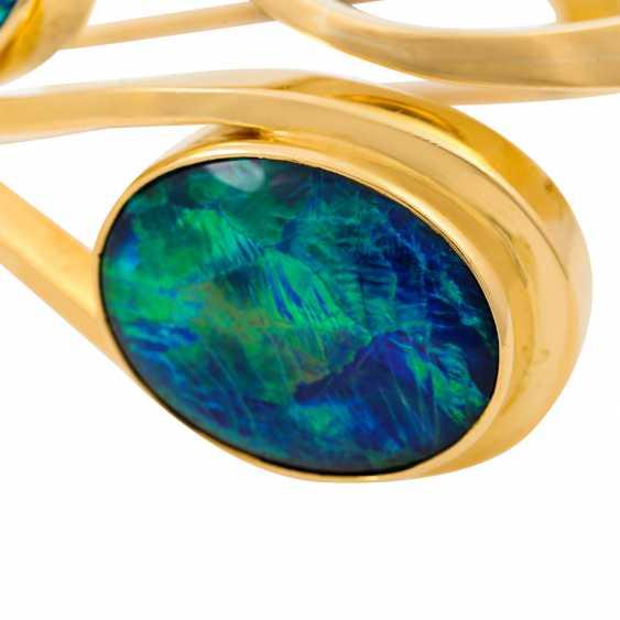 Bangle with 2 oval opal triplets - photo 5