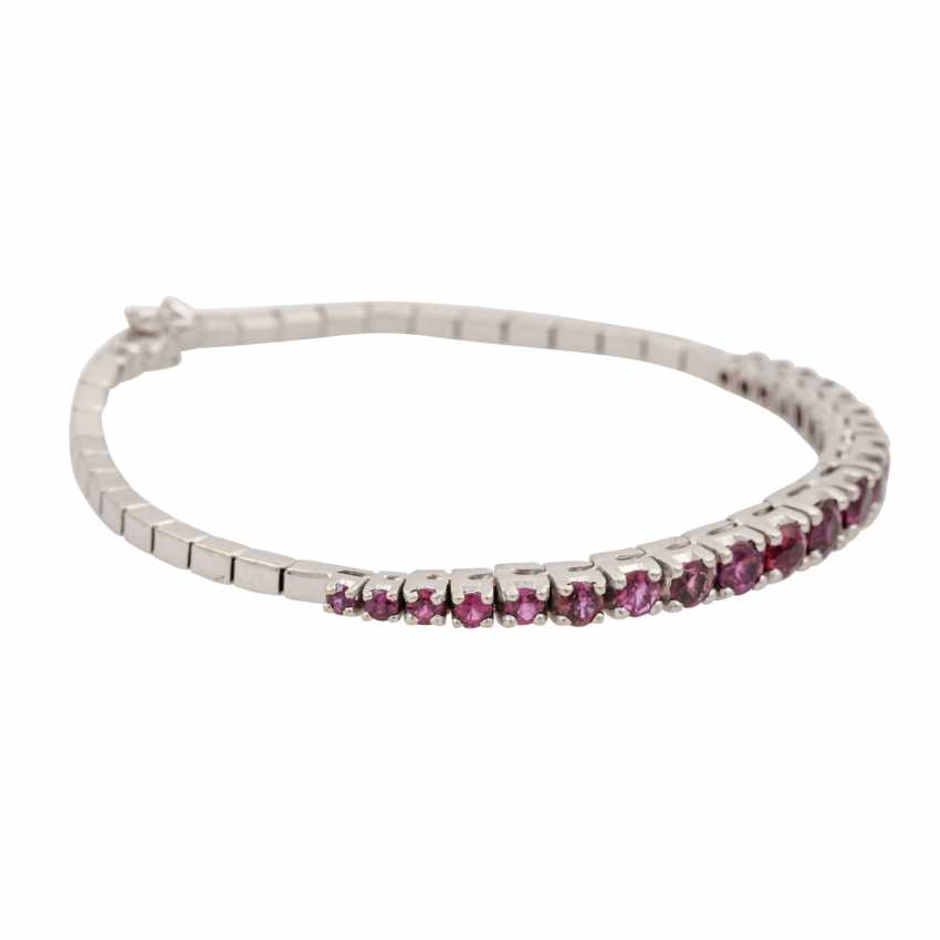 Bracelet with rubies of approx. 3 ct in the course of the size, - photo 2