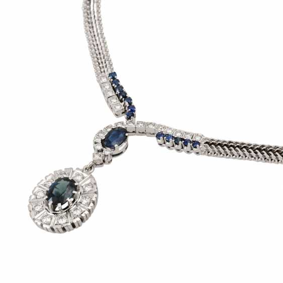 Collier with sapphires and diamonds totaling approx. 1.4 ct, - photo 4