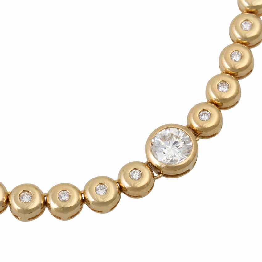 Rivière necklace with diamonds totaling approx. 2.2 ct, - photo 5