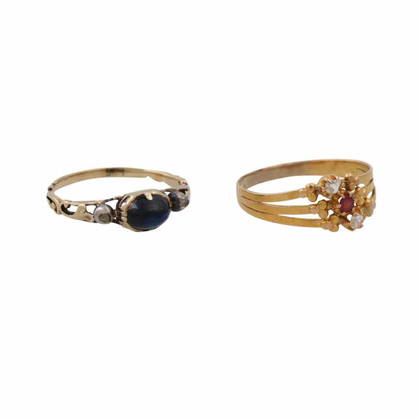 Lot of 2 antique rings - photo 1