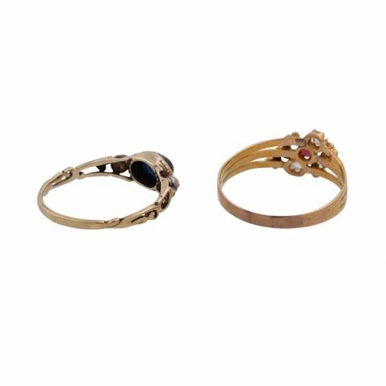 Lot of 2 antique rings - photo 3