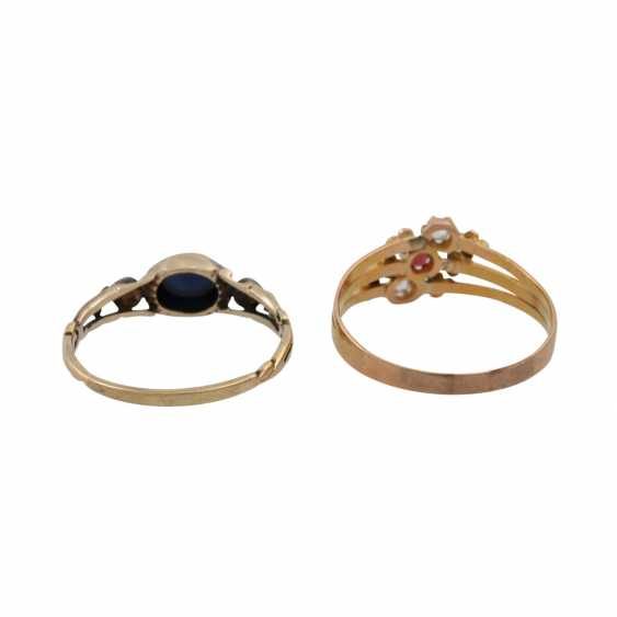 Lot of 2 antique rings - photo 4
