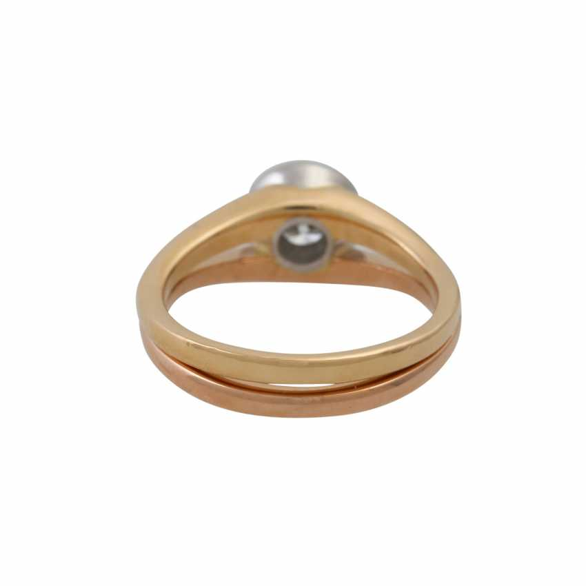 Solitaire ring with a diamond of approx. 0.5 ct (stamped), - photo 4