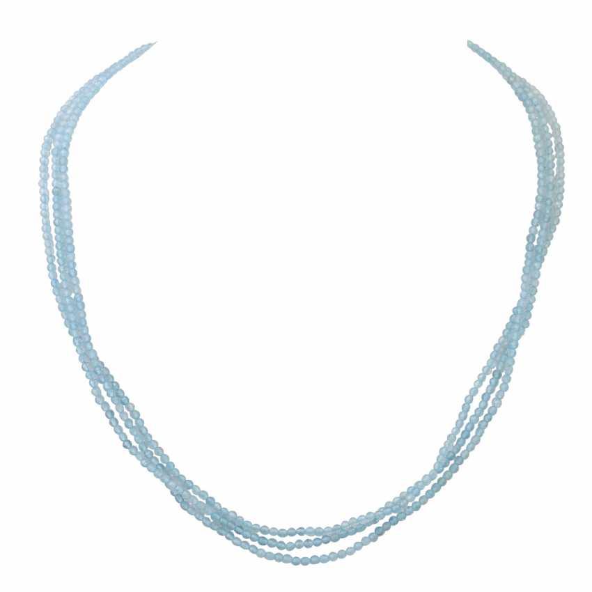 Aquamarincollier, - photo 1