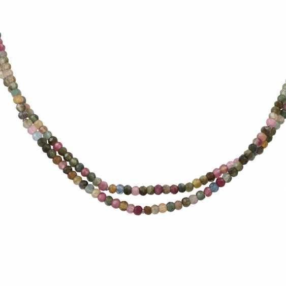 Multicolored tourmalincollier, - photo 2