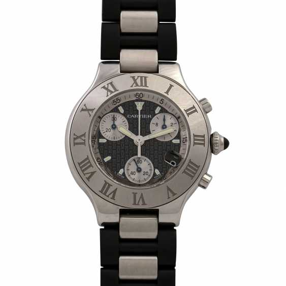 CARTIER 21 Chronoscaph, Ref. 2424. Men's watch. - photo 1