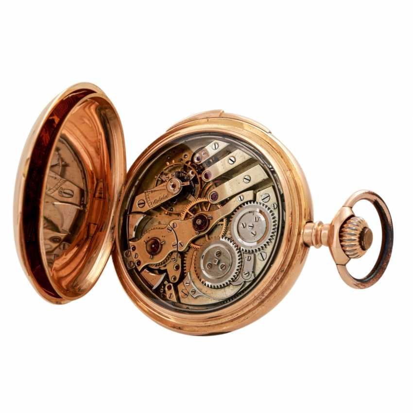 VINTAGE quarter-hour repeater pocket watch. - photo 5