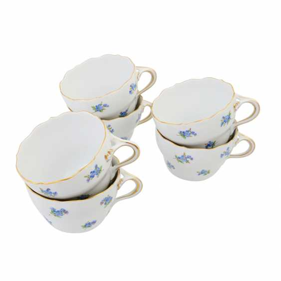 MEISSEN tea service for 6 people 'Blue Scattered Flowers', 1st choice, 20th century - photo 5