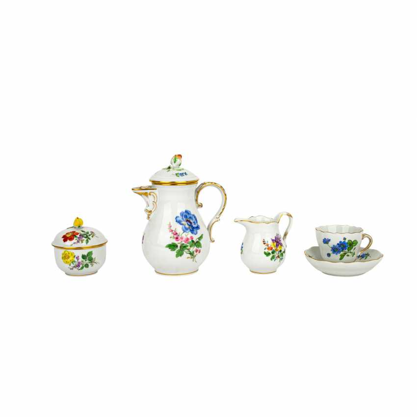 MEISSEN mocha service for 6 people 'Colorful Flower', 2nd choice, 20th century - photo 2