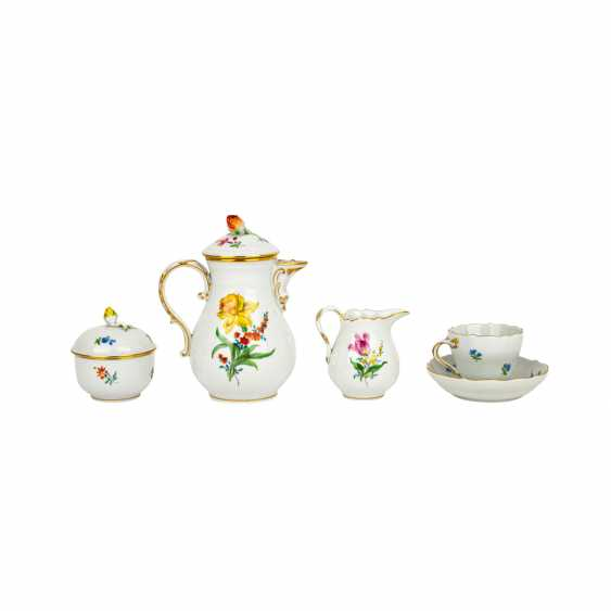 MEISSEN mocha service for 6 people 'Colorful Flower', 2nd choice, 20th century - photo 3