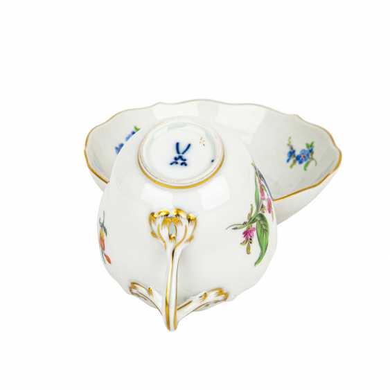 MEISSEN mocha service for 6 people 'Colorful Flower', 2nd choice, 20th century - photo 4