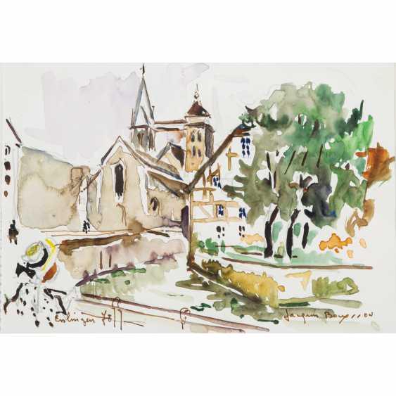 """BOUYSSOU, JACQUES (La Rivière St. Sauveur 1926-1997 Maisons Laffitte), """"Esslingen"""", - photo 1"""