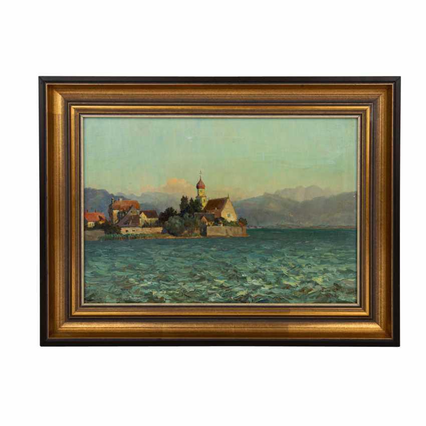 """LÖFFLER, FRANZ (1875-1955), """"View from Malerwinkel to Wasserburg on Lake Constance"""", - photo 2"""