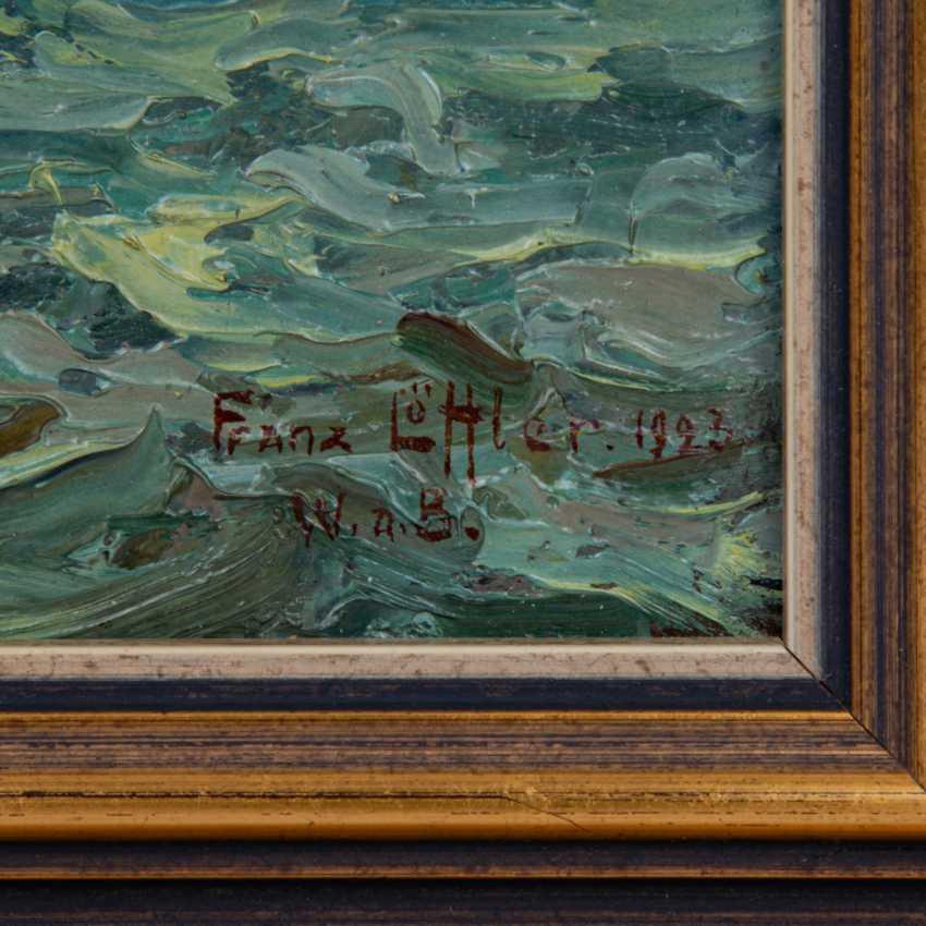 """LÖFFLER, FRANZ (1875-1955), """"View from Malerwinkel to Wasserburg on Lake Constance"""", - photo 3"""