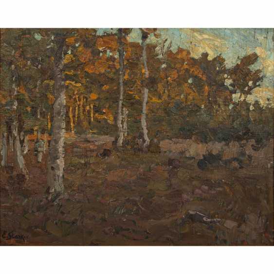 """STARKER, ERWIN (1872-1938), """"Autumn forest edge near Stuttgart"""", - photo 1"""