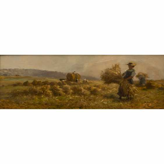 "KAPPIS, ALBERT (Wildberg / Nagold 1836-1914 Stuttgart), ""Grain harvest"", - photo 1"