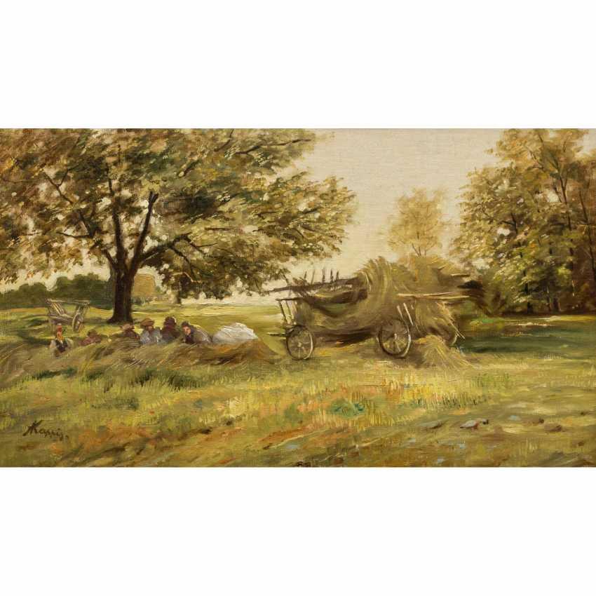 "KAPPIS, ALBERT (Wildberg / Nagold 1836-1914 Stuttgart), ""Rest at the hay harvest"", - photo 1"