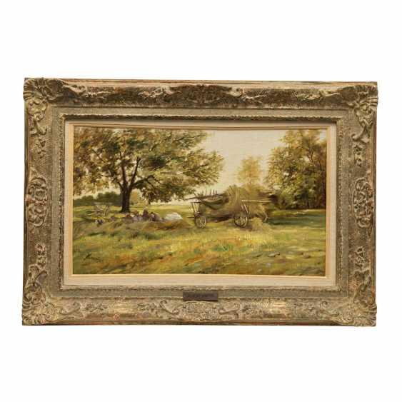 "KAPPIS, ALBERT (Wildberg / Nagold 1836-1914 Stuttgart), ""Rest at the hay harvest"", - photo 2"