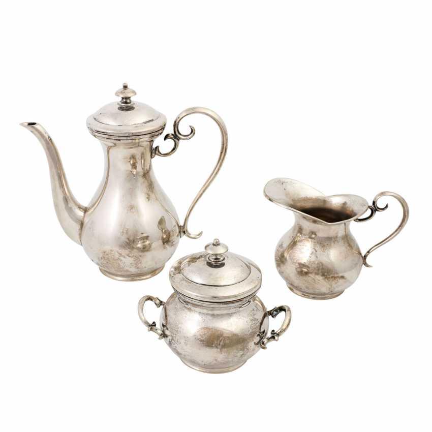 ITALY 3-piece mocha maker, 800 silver, 20th century - photo 3