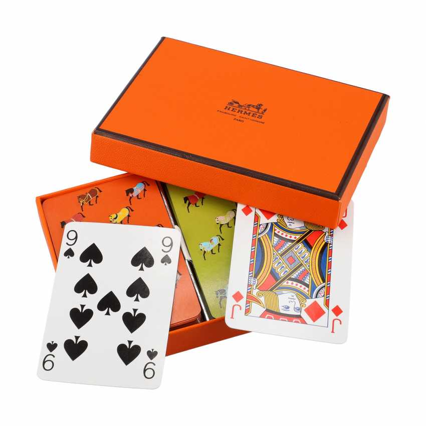 HERMÈS card game, new price approx .: 105, - €. - photo 2
