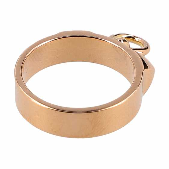 "HERMÈS Ring ""COLLIER DE DOG"", Grösse 51. - photo 3"