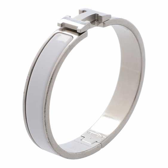 "HERMÈS bangle ""CLIC H"", current new price: 550, - €. Diameter: 5.7cm. - photo 4"