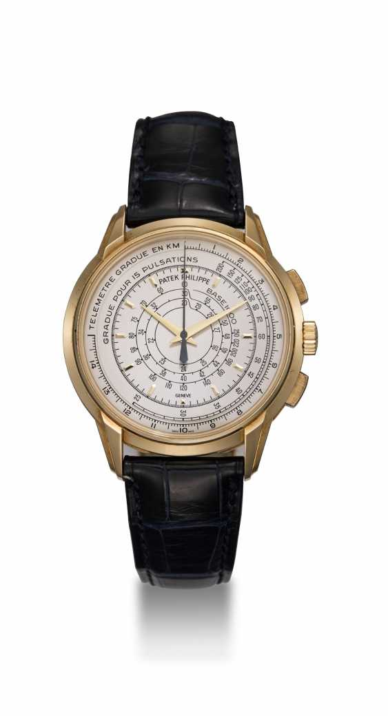PATEK PHILIPPE, REF. 5975J, A LIMITED EDITION GOLD MULTI-SCALE CHRONOGRAPH WRISTWATCH MADE TO COMMEMORATE THE BRAND'S 175TH ANNIVERSARY - photo 3