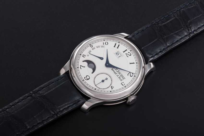 F. P. JOURNE, A PLATINUM WRISTWATCH WITH POWER RESERVE AND MOON-PHASE, OCTA AUTOMATIQUE LUNE - photo 1