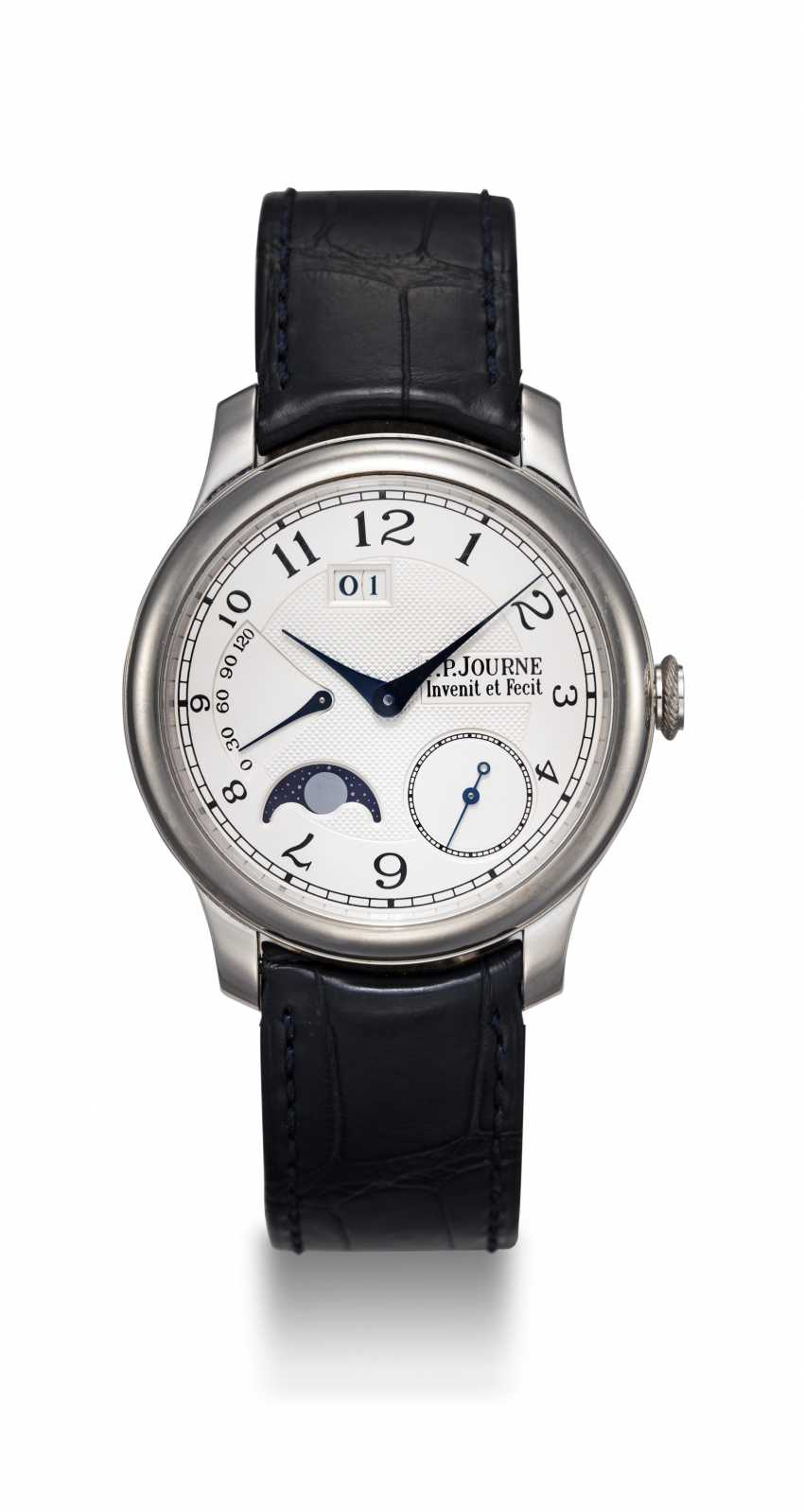 F. P. JOURNE, A PLATINUM WRISTWATCH WITH POWER RESERVE AND MOON-PHASE, OCTA AUTOMATIQUE LUNE - photo 3