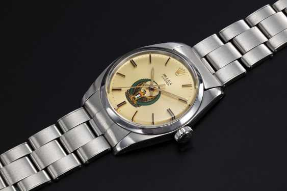 ROLEX, A STEEL OYSTER WRISTWATCH WITH UAE ARMED FORCES LOGO - photo 1