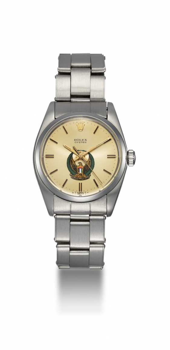 ROLEX, A STEEL OYSTER WRISTWATCH WITH UAE ARMED FORCES LOGO - photo 3
