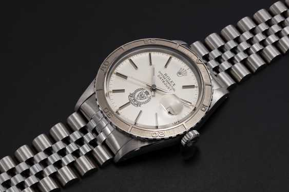 ROLEX, A STEEL OYSTER PERPETUAL DATEJUST MADE FOR THE BAHRAIN MINISTY OF INTERIOR, REF. 16250 - photo 1