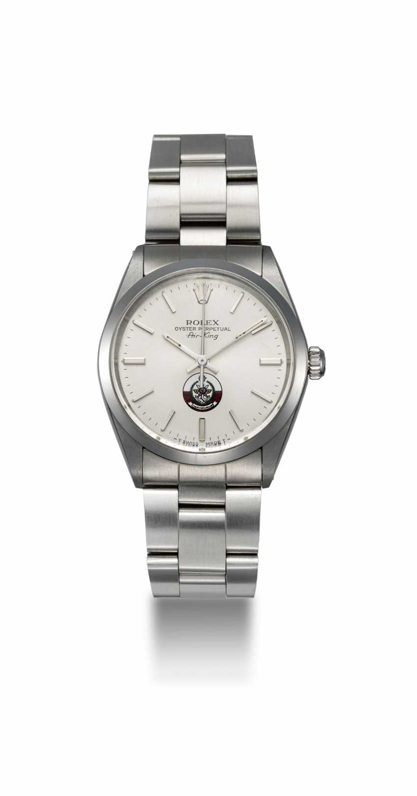 ROLEX, A STAINLESS STEEL AIR-KING WITH QATAR ARMED FORCES LOGO, REF. 5500 - photo 3