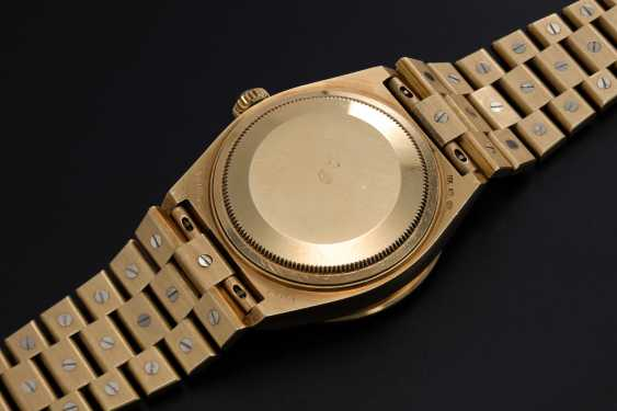 ROLEX, A YELLOW GOLD DAY-DATE OYSTERQUARTZ SET WITH DIAMONDS AND SAPPHIRES, REF: 19168 - photo 2