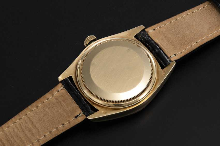 ROLEX, A GOLD OYSTER PERPETUAL DAY-DATE WITH ONYX DIAL AND HEBREW CALENDAR, REF. 18038 - photo 2