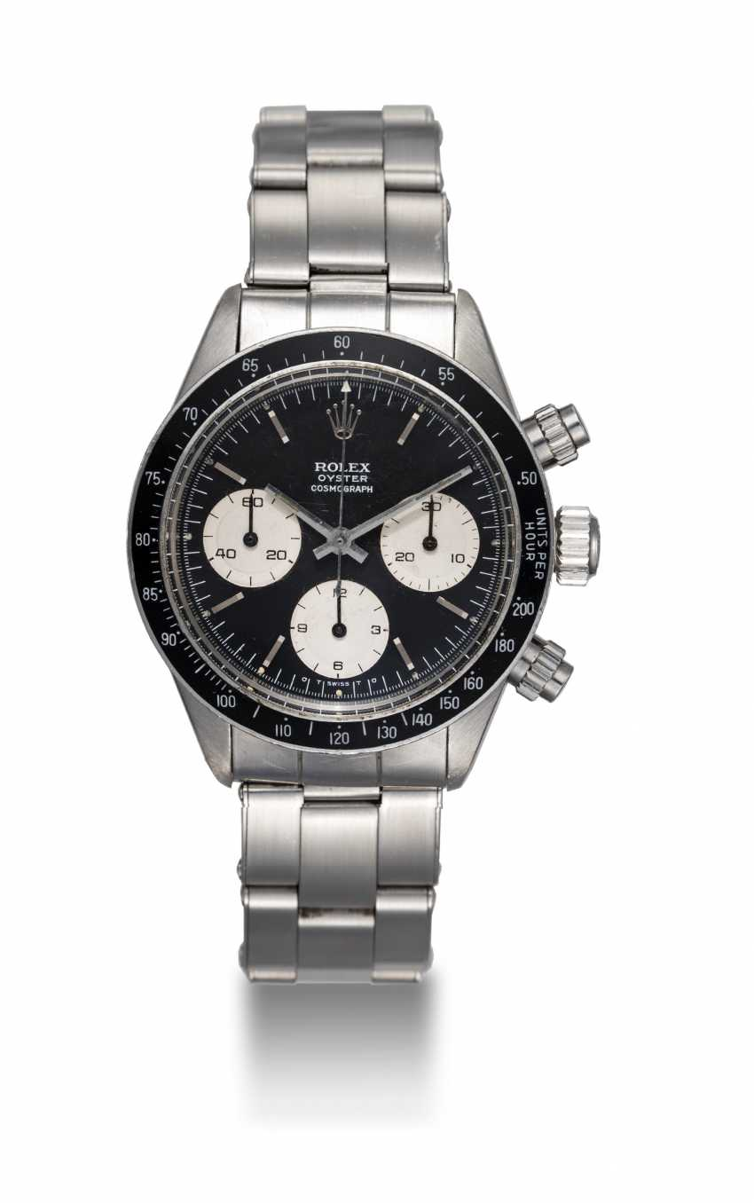 """ROLEX, A STEEL OYSTER COSMOGRAPH DAYTONA WITH """"SIGMA DIAL"""", REF. 6263 - photo 3"""
