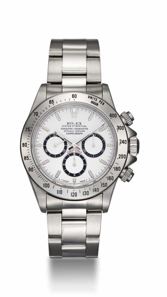 """ROLEX, A STAINLESS STEEL OYSTER PERPETUAL COSMOGRAPH DAYTONA """"INVERTED 6"""" - photo 3"""